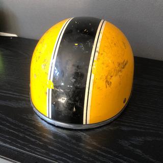 バイク ヘルメット 半ヘル イエロー