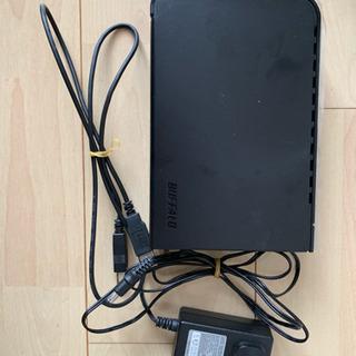 外付けハードディスク 1tb BUFFALO※TVとセットで20...