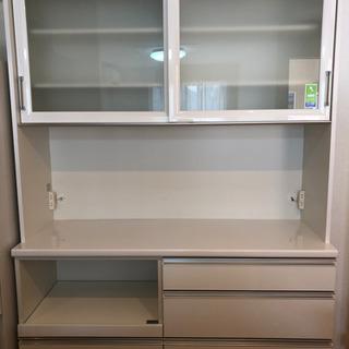 食器棚(鏡面 白色)