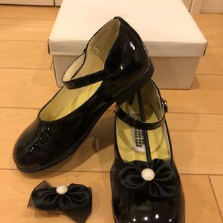 美品  フォーマルシューズ  女の子  19cm  靴