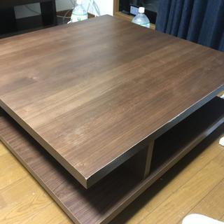 センターテーブル おしゃれな正方形ローテーブル 75cm