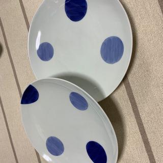 可愛い藍の和皿2枚 お値下げしました!