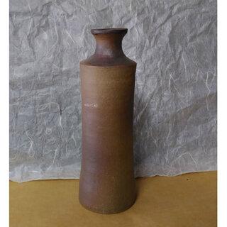 c268 陶器 花入れ 銘あり