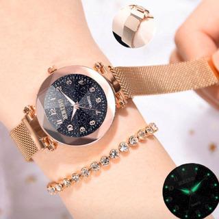新品 腕時計 マグネットバックル 星空ブレスレット レディース