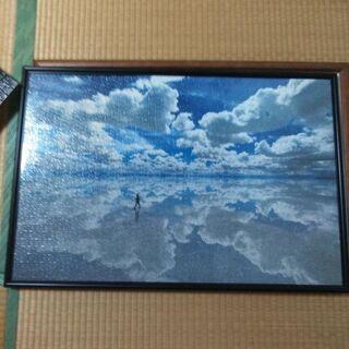 組立済みパズル1000ピース☓2(モナリザ、ウユニ塩湖)50☓75