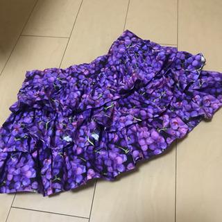 葡萄スカート 三段フリル