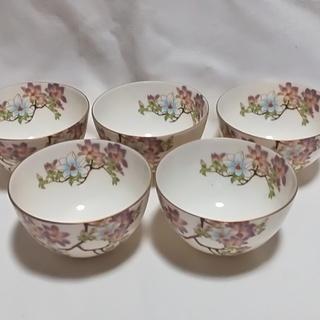 ☆ 高級陶器 / 若紫茶碗揃5客セット / 新品未使用 ☆