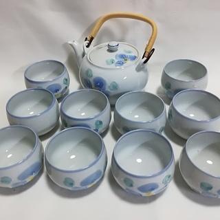 高級美術有田焼の茶器揃/急須/茶碗10客セット新品未使用品