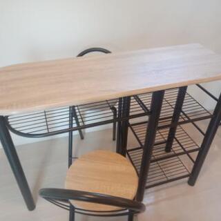 [取引中]おしゃれなカウンターテーブル&チェアー2脚セット