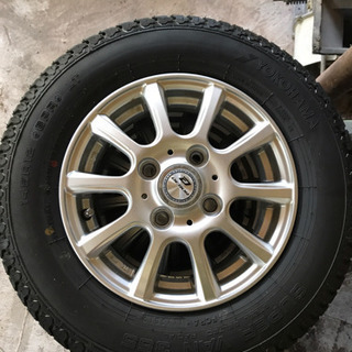 軽トラ アルミ、タイヤ4本セット