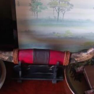 水牛の角の木彫り