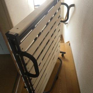 ニトリ 折りたたみ スノコ ベッド(S)