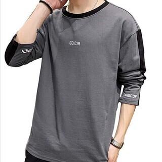 ロングtシャツ メンズ 長袖 綿100% 秋服 M