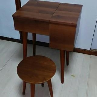 nico 木製ドレッサー 鏡台 & 椅子 SET
