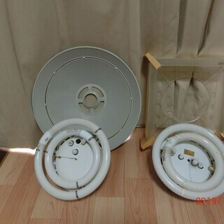 丸形蛍光灯用 吊り下げ シーリングライト 2個セット 90年代製