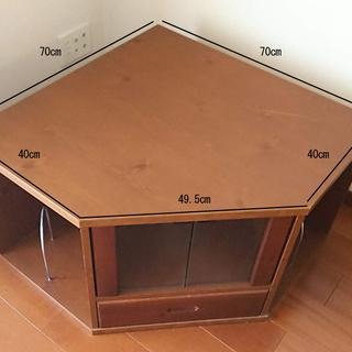 引取限定 木製テレビ台(コーナータイプ)