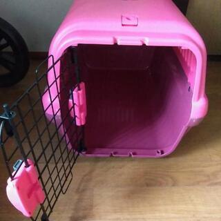 小型犬、猫用 ピンクハードキャリー!