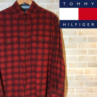 【90s】古着 Tommy トミーヒルフィガー  チエックシャツ