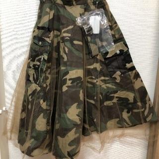 値下げ!デザインが素敵な迷彩柄のスカート