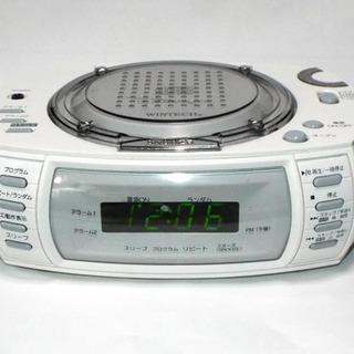 「取り引き中」コンパクトラジオCDプレイヤー クロックアラーム付き
