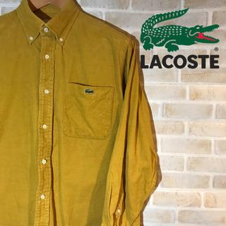 【レア】LACOSTE ラコステ コーデュロイシャツ ワンポイントロゴ