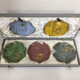 レインボーコレクショングラス 銘々皿 セット 川村硝子工芸 贈答品