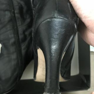 シンプルな黒革ブーツ❗️ - 靴/バッグ