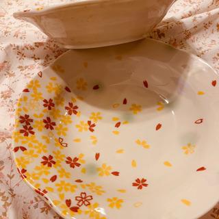 値下げしました。お皿ペア&お箸 京桜