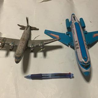 昭和レトロ、ブリキ飛行機、ジャンク