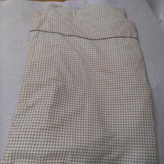 【美品】洗えるお昼寝布団セット(洗い替用敷カバー付き)