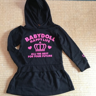 BABYDOLL ロングパーカー トレーナー サイズ110