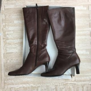 本革茶色ブーツ 24.0cm