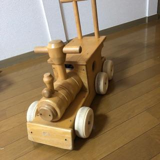 木製 汽車 手押し車