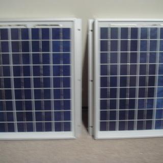 ソーラーパネル 10w 2セット 日本製 美品