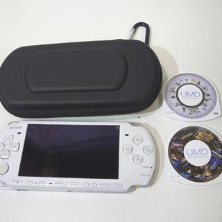 ジャンク SONY PSP PSP-3000 ケース、ソフト2本...