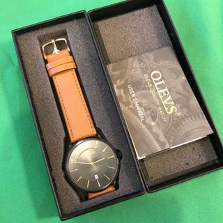 アナログ腕時計 革ベルト 未使用