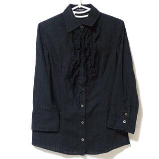 A968 バーバリーロンドン 七分袖シャツ シャツ ブラック 38
