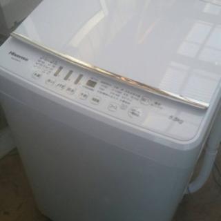 極美品 2019年製  ハイセンス 全自動洗濯機 (洗濯5.5k...