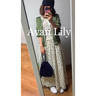 ☆Avan Lily☆アバンリリー  ダスティフラワーフレアワン...