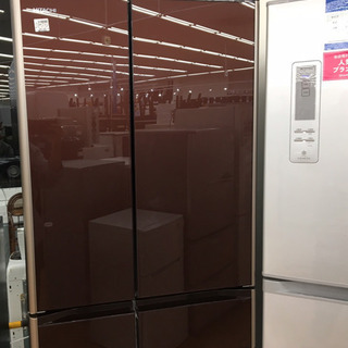【トレファク摂津店 店頭限定】 HITACHのガラストップ6ドア...