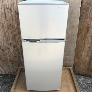 【配送無料】SHARP 118L 冷蔵庫 SJ-H12W