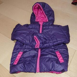 【値下げ】乳幼児用 アウター(紫×ピンク)80サイズ