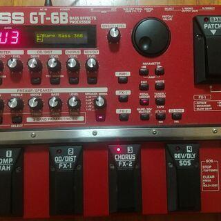 ベース用マルチエフェクター「BOSS GT-6B」