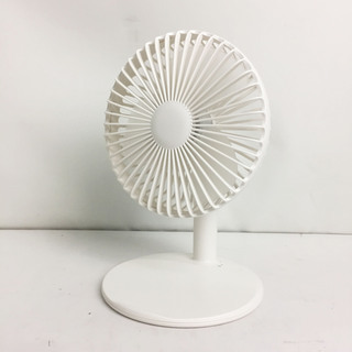 アウトレット☆卓上小型扇風機 L-6 ホワイト