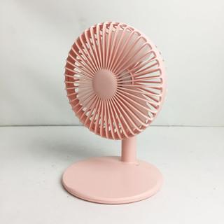 アウトレット☆卓上小型扇風機 L-6 ピンク