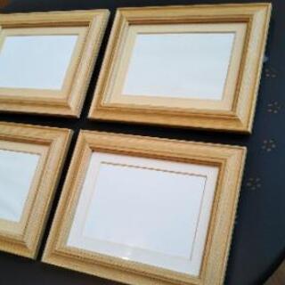 取引中◆木製 壁掛け両用フォトスタンド白木◆4セット