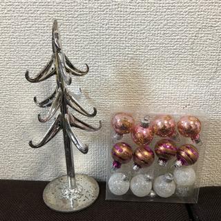 ガラスのツリー&クリスマス装飾いろいろ