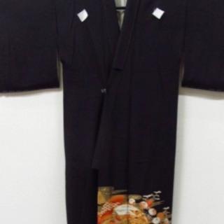 お値下げ 未使用 正絹黒留袖