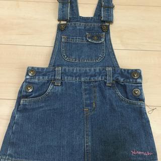 【美品】デニムジャンパースカート 95