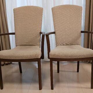 カリモク 肘付椅子 2脚
